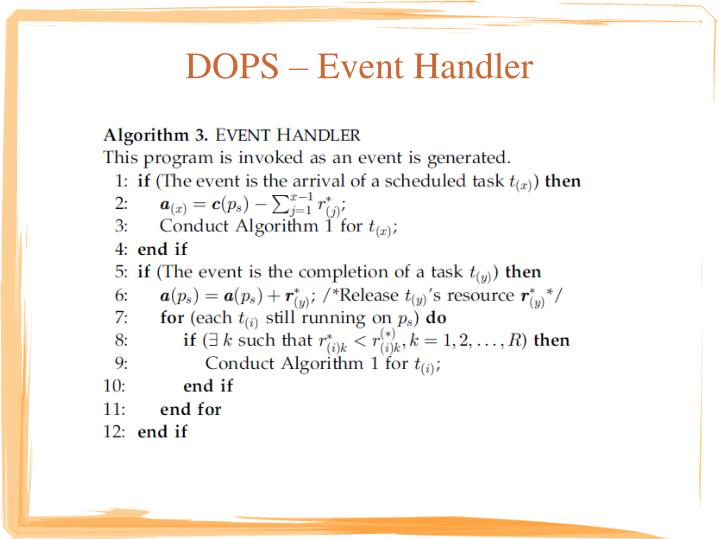 DOPS – Event Handler