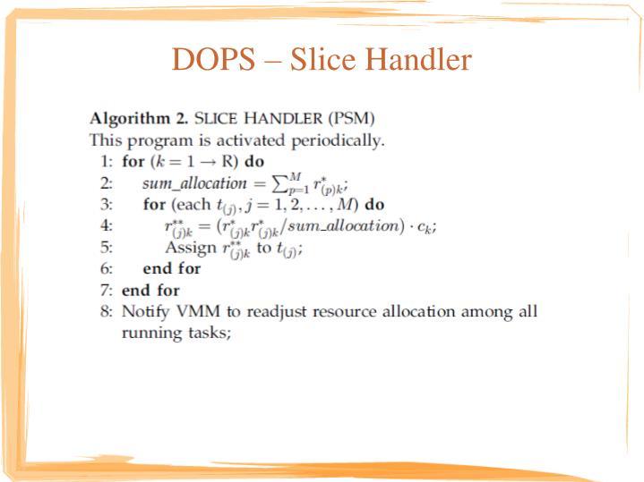DOPS – Slice Handler