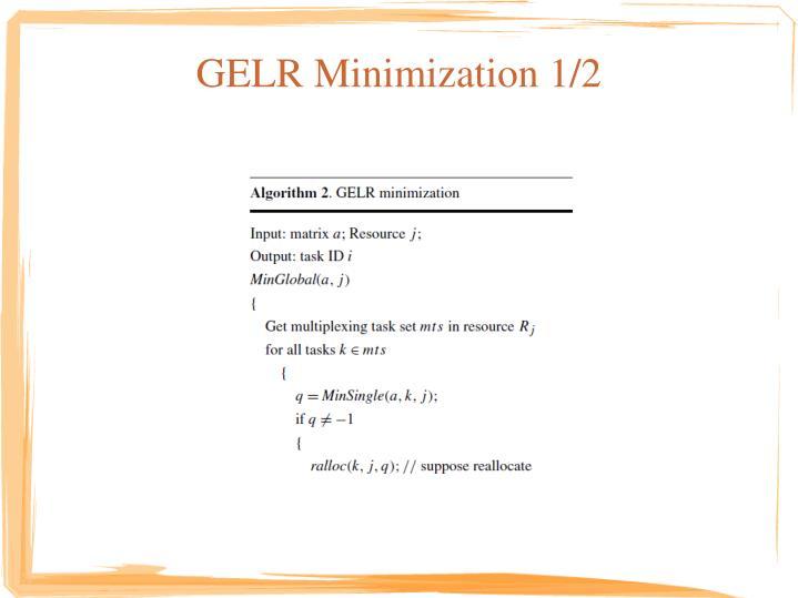 GELR Minimization 1/2