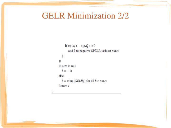 GELR Minimization 2/2