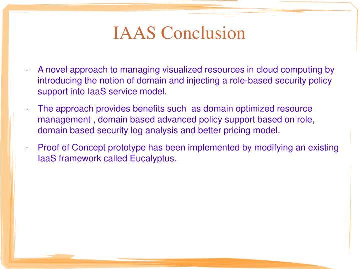 IAAS Conclusion
