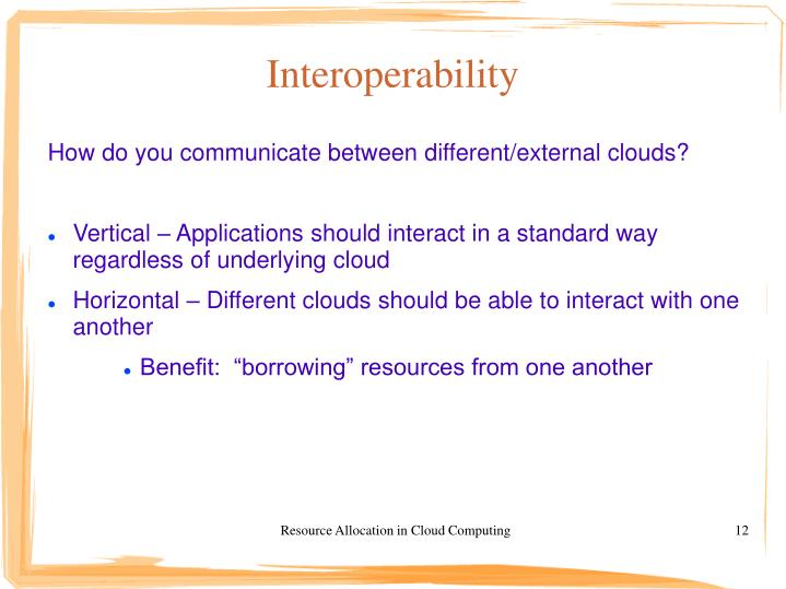 Resource Allocation in Cloud Computing
