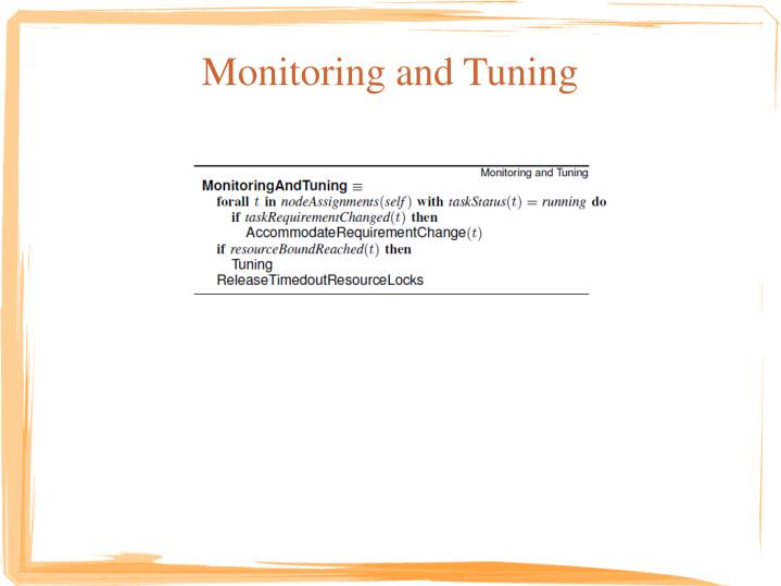 Monitoring and Tuning