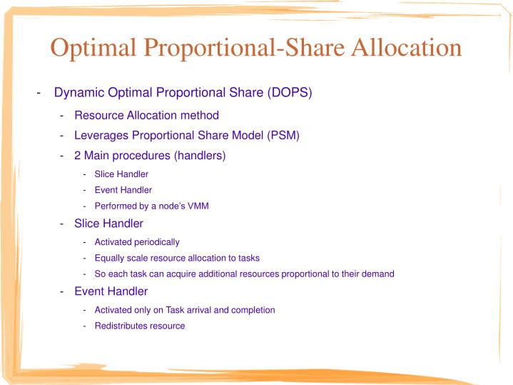 Optimal Proportional-Share Allocation