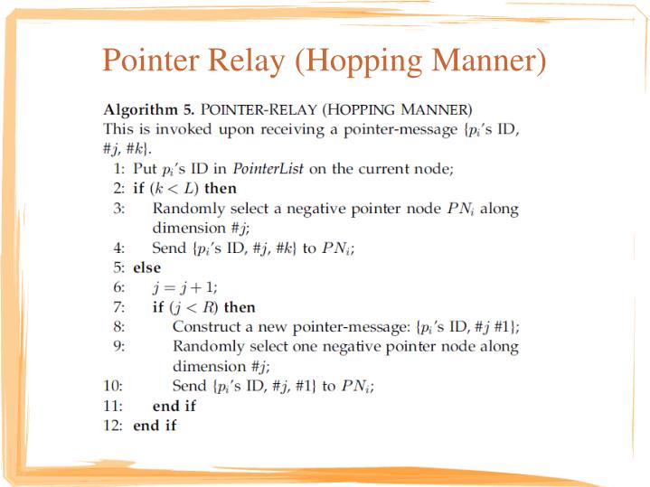 Pointer Relay (Hopping Manner)