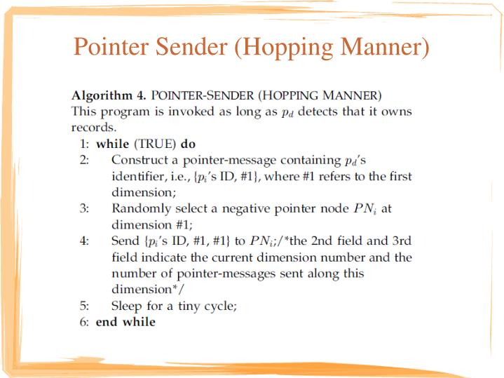Pointer Sender (Hopping Manner)