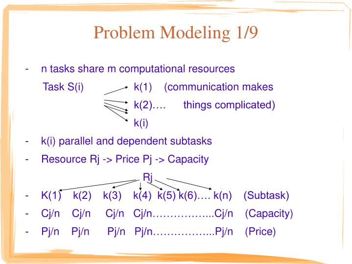 Problem Modeling 1/9
