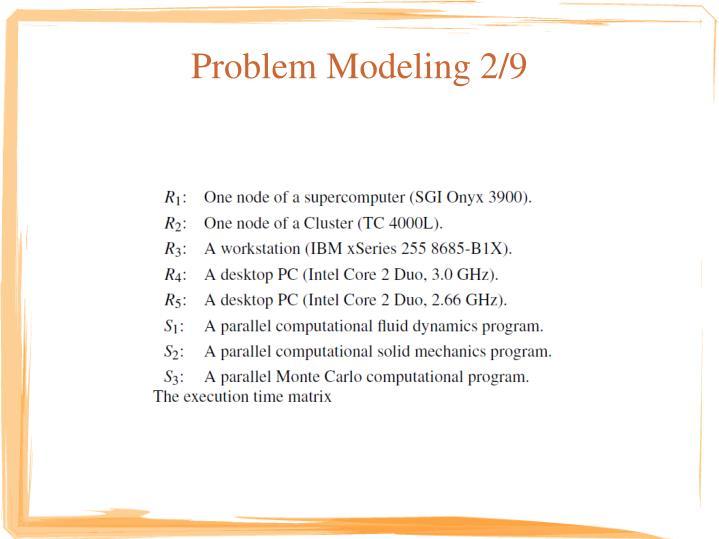 Problem Modeling 2/9