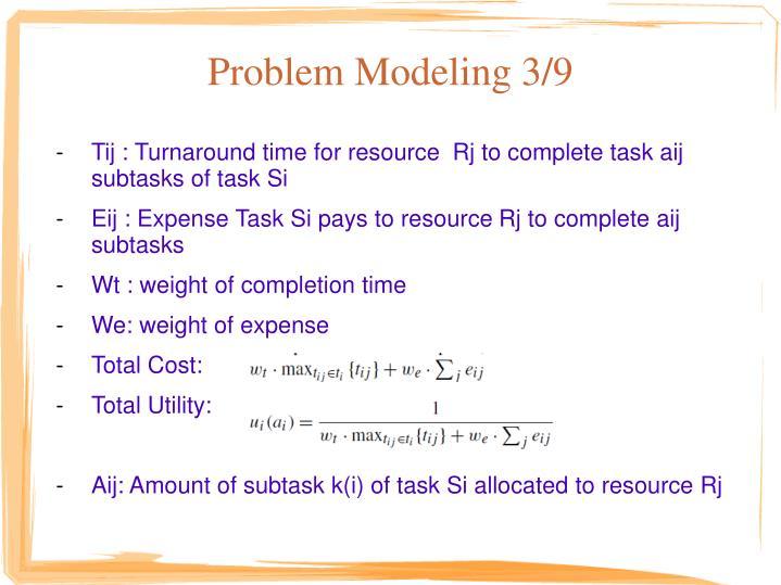 Problem Modeling 3/9