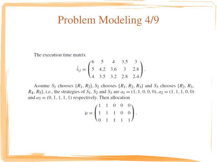 Problem Modeling 4/9