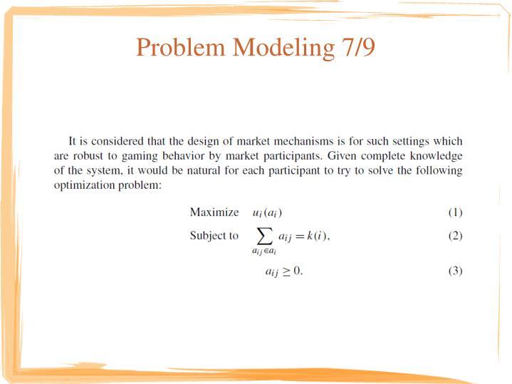 Problem Modeling 7/9