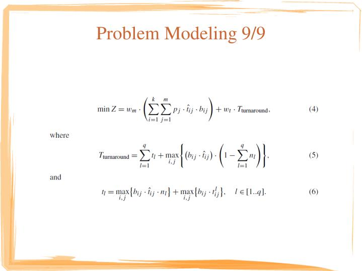 Problem Modeling 9/9