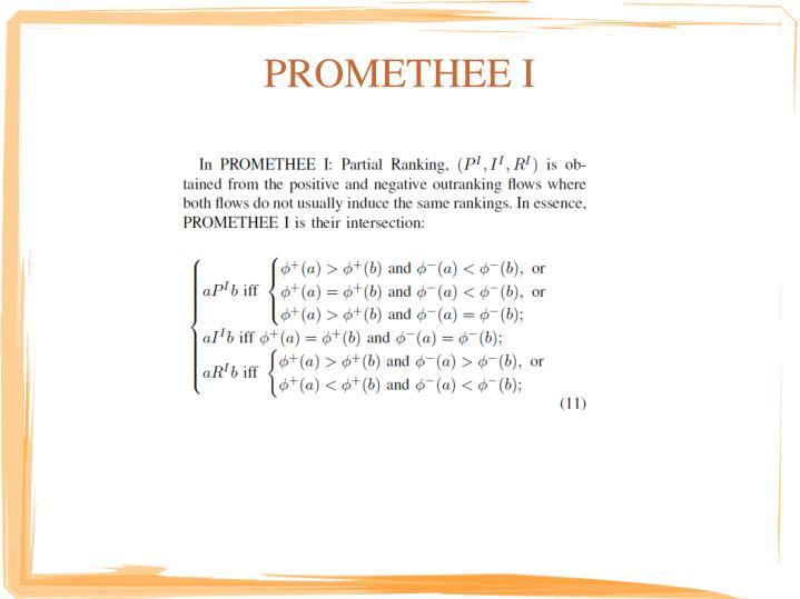 PROMETHEE I
