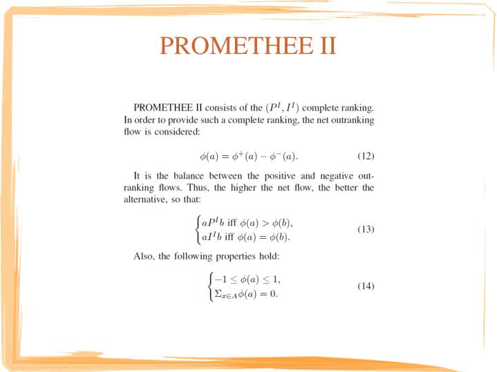 PROMETHEE II