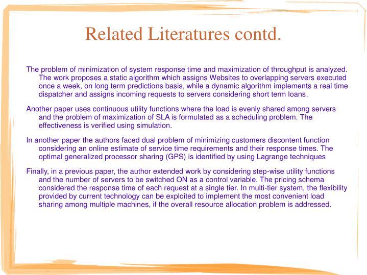 Related Literatures contd.