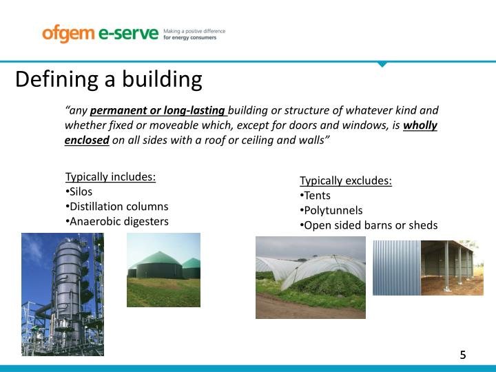 Defining a building