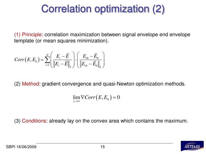 Correlation optimization