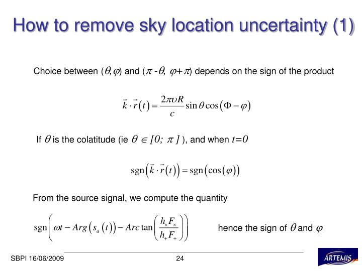 How to remove sky location uncertainty (1)