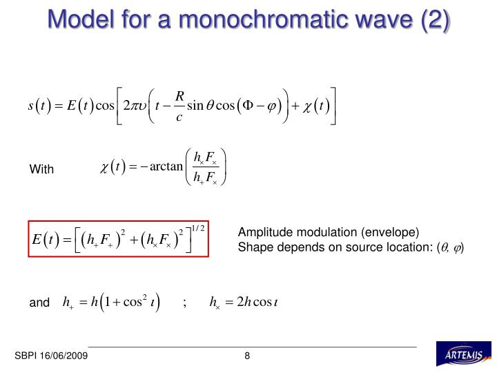 Model for a monochromatic wave (2)