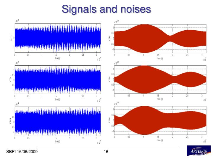 Signals and noises