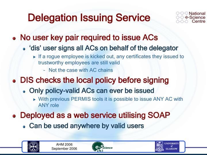 Delegation Issuing Service