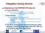 delegation issuing service1
