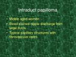 intraduct papilloma
