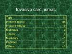 invasive carcinomas