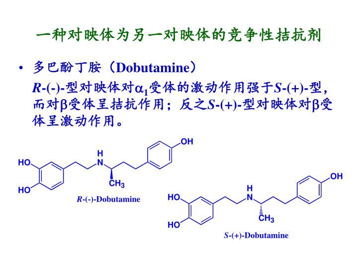 一种对映体为另一对映体的竞争性拮抗剂