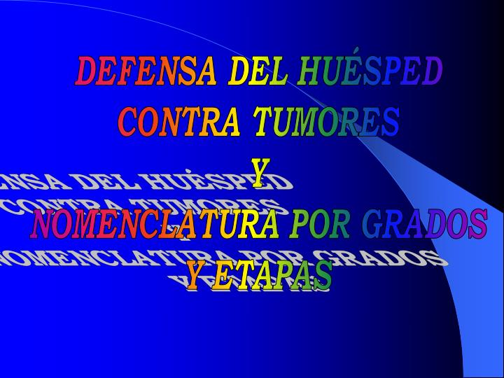 DEFENSA DEL HUÉSPED