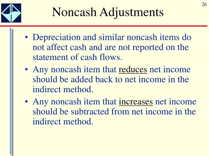 Noncash Adjustments