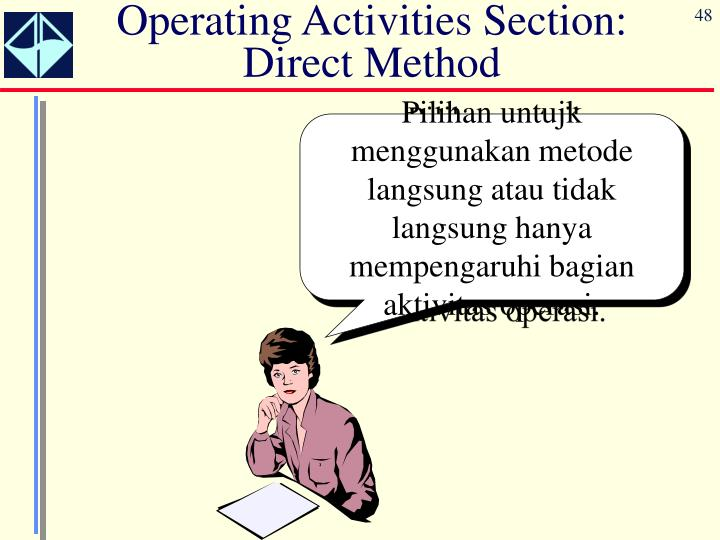Operating Activities Section:  Direct Method