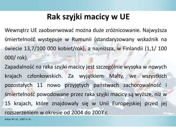 Rak szyjki macicy w UE