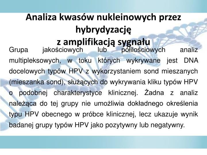 Analiza kwasw nukleinowych przez hybrydyzacj
