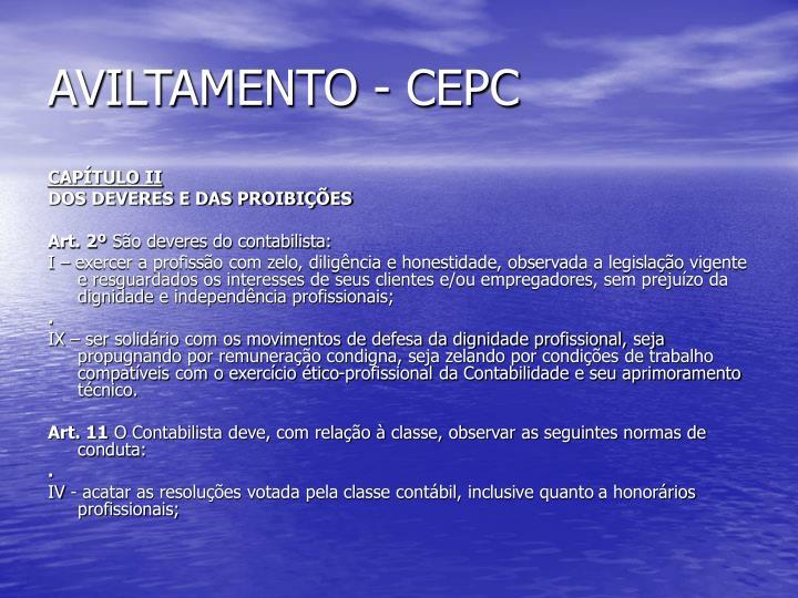 AVILTAMENTO - CEPC