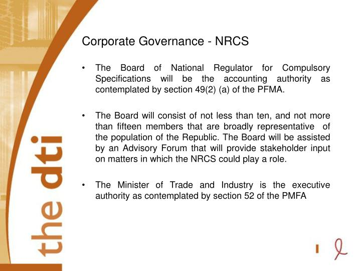 Corporate Governance - NRCS