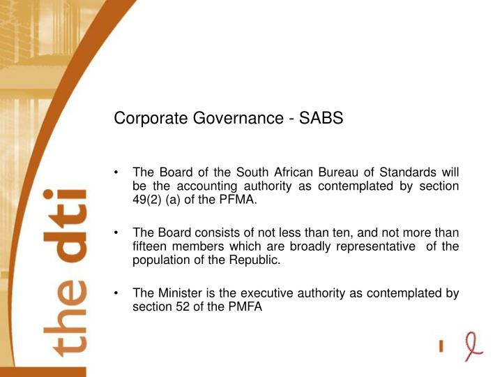 Corporate Governance - SABS
