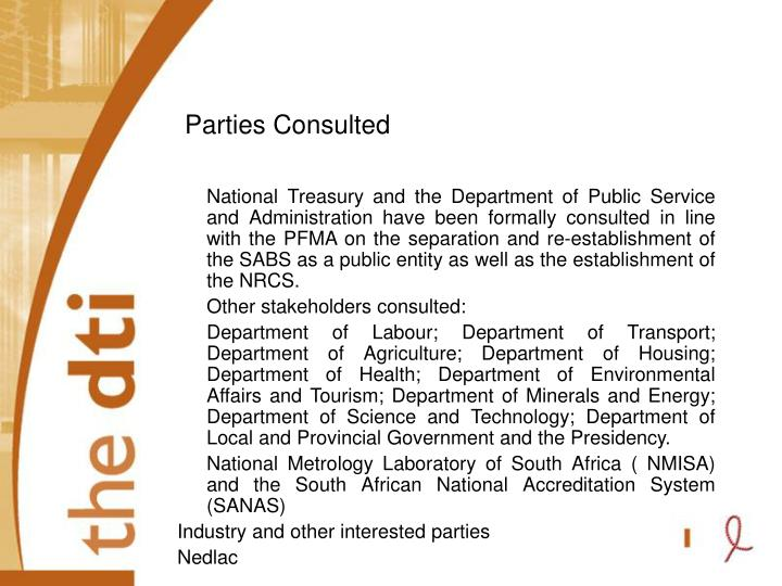 Parties Consulted