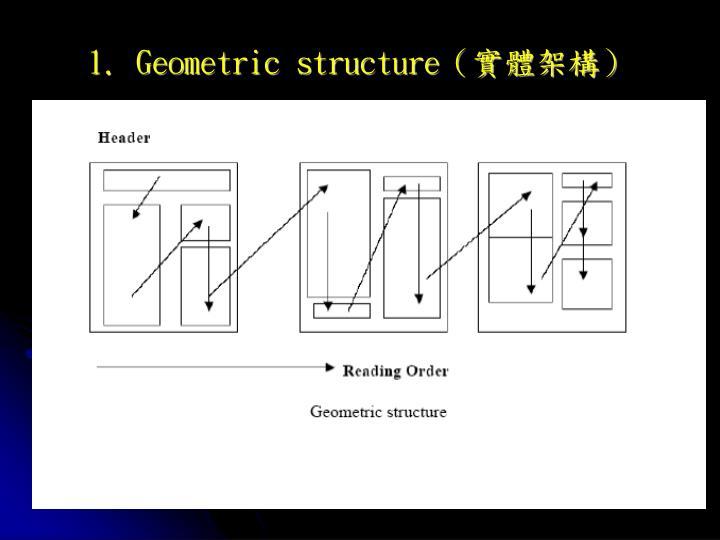 1. Geometric structure