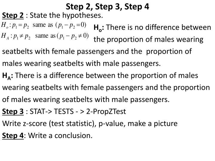 Step 2, Step 3, Step 4