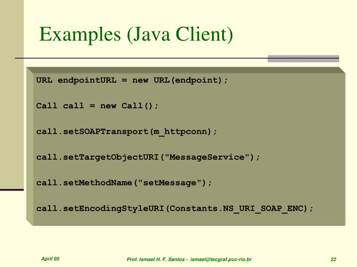 Examples (Java Client)