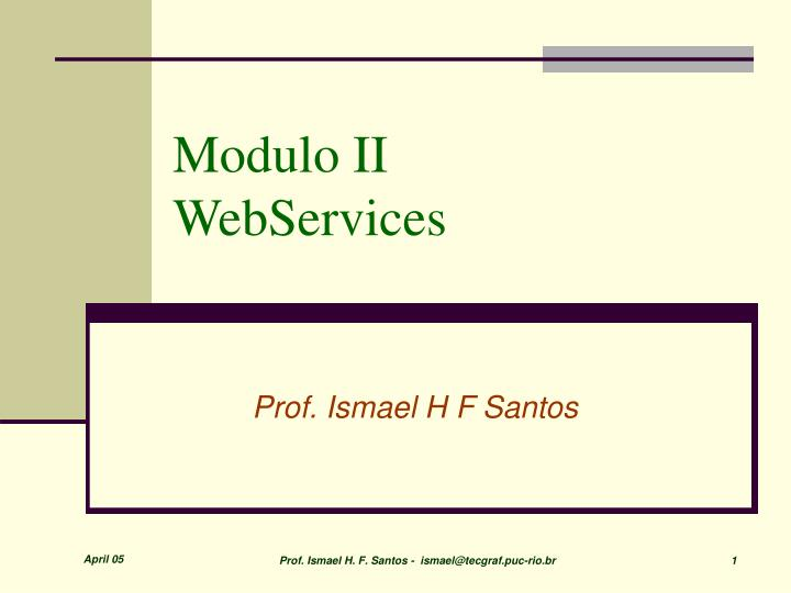 Modulo ii webservices