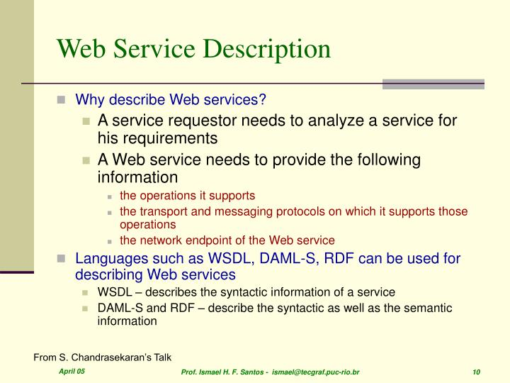 Web Service Description