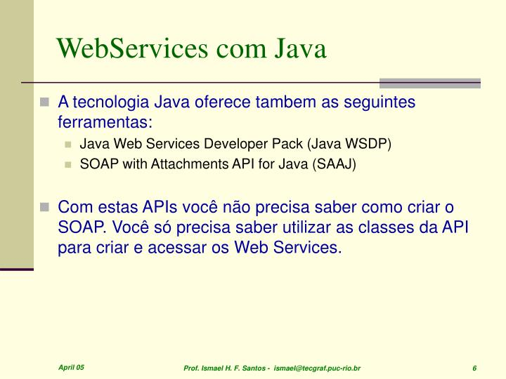 WebServices com Java