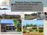 reducing energy consumption what we have done