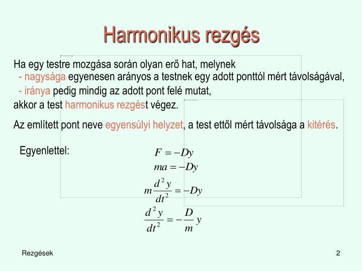 Harmonikus rezgés