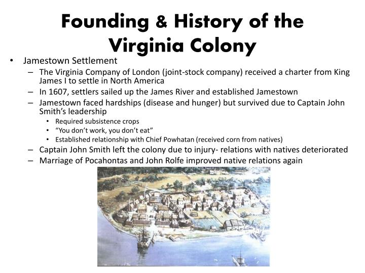 an overview of the history of virginia colony The colonial settlement timeline (1600-1763) covers jamestown, early virginia, native american relations and the georgia colony using primary sources from american memory skip navigation library of congress.