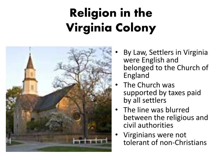 comparing virgina colony with the new The virginia colony and massachusetts bay colony attracted different types of  settlers  the economy of new england was based off fishing, crafting, and  farming  a comparison between new england colony and chesapeake bay  colony.
