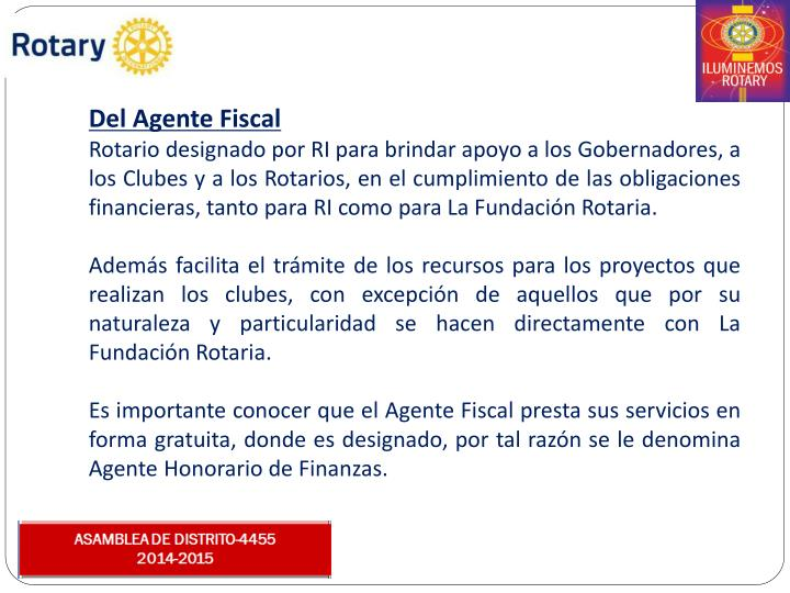 Del Agente Fiscal