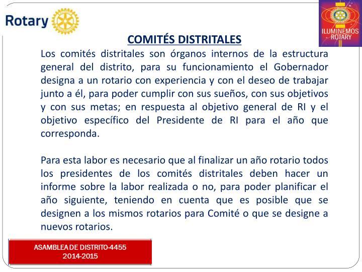 COMITS DISTRITALES